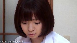 A cute Asian girl in a school uniform gets nailed hard