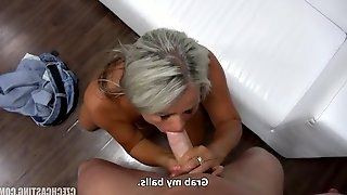 Horny young stud drills that gilf\'s fuck hole relentlessly