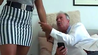 Olivia junior natural breasts with old man