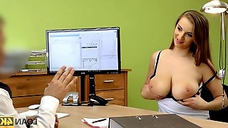 Car is crashed and dirty sex is best solution in loan porn