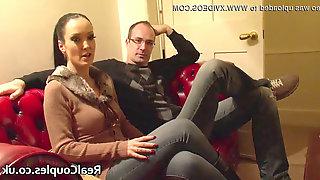 Nasty wifey in PVC with crossdressing spouse