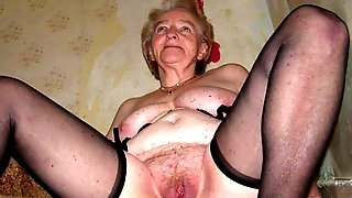 Huge granny tits jerk off challenge to the beat #3