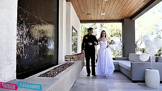 After wedding foursome fucking with Jazmin Luv and Hazel Moore