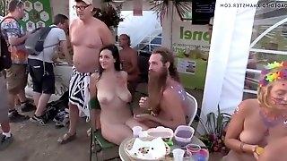 Nice boobs in a nudist beach
