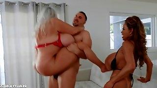 Hardcore cock sharing with Minka & Kayla Kleevage