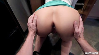 Fuckless step mommy Lexi Luna seduces stepson and sucks his horseshit in the kitchen