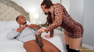 Interracial MMF threesome with spit-roast be fitting of horny Keira Croft